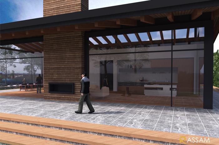 طراحی ویلای یک طبقه